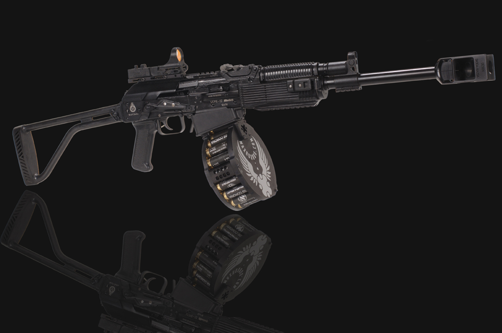 Saiga 12 Legion - 20rd drum, muzzlebrake and accessorriers | www