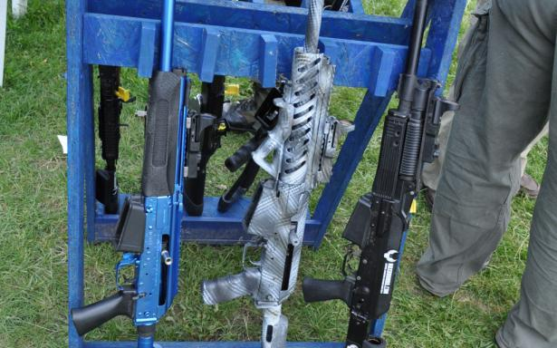 Gun rack of the muzzlebrakes