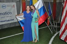 Russian girls with medal