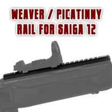 Weaver/Picatinny rail optics mount for Saiga 12