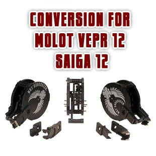 Conversion for drum magazine for Molot Vepr 12